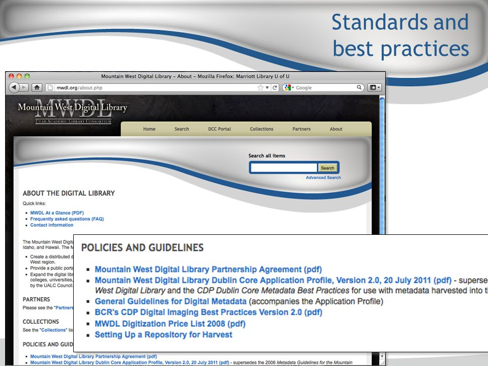 Standards and best practices