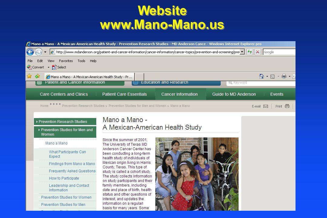 Website www.Mano-Mano.us Website www.Mano-Mano.us