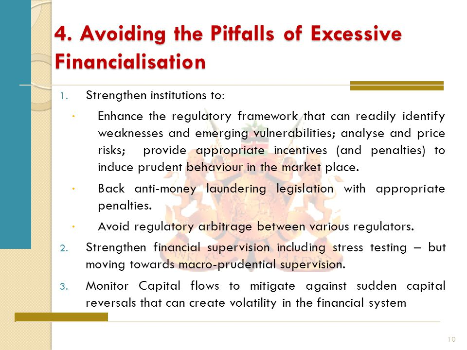 4. Avoiding the Pitfalls of Excessive Financialisation 1.