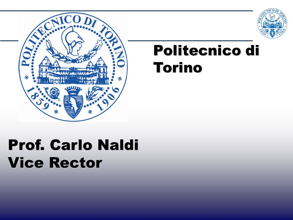  Strengthen presence of Piedmont in LA  Attract LA best students to Politecnico America Latina PIemonte Politecnico Partners National and local government, industrial board, chamber of commerce, bank foundations, Boella Institute Goals Funding ~8.3 M€ in 8 editions, starting from 2001 Results 4225 applications - 406 scholarships 118 scholarship awarded to Brasilian