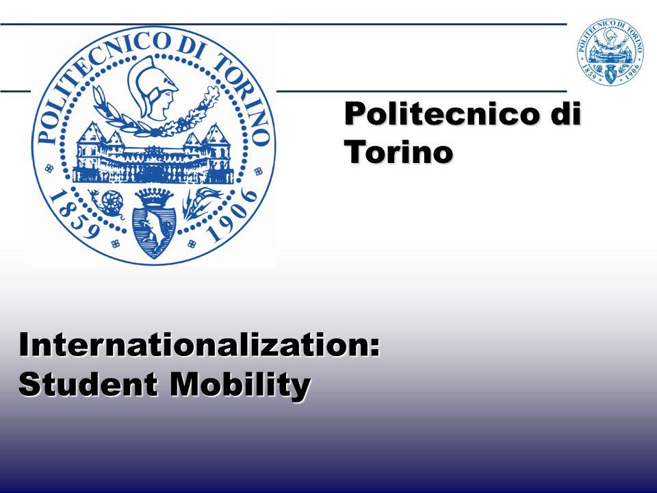 15 Internationalization: Internationalization: Student Mobility Student Mobility Politecnico di Torino