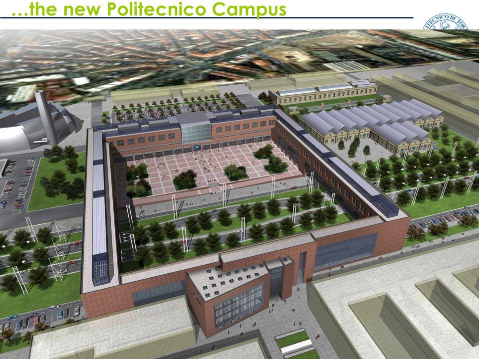 9 MQ previsti: 7.600 …the new Politecnico Campus