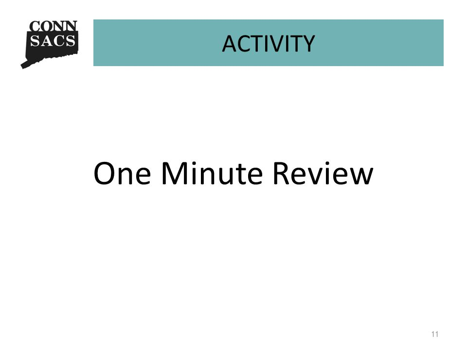ACTIVITY One Minute Review 11
