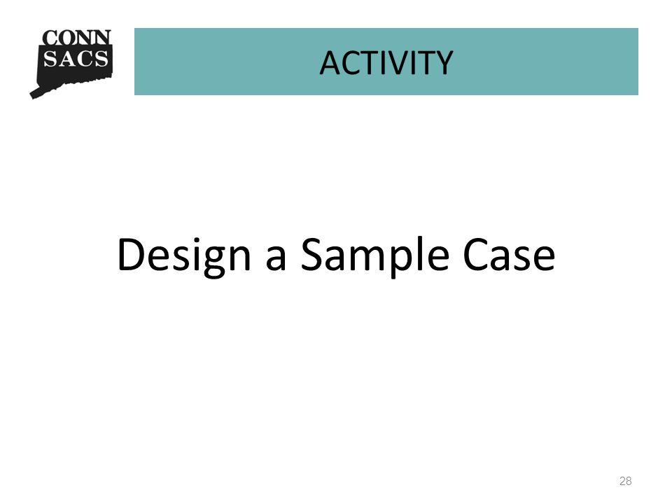 ACTIVITY Design a Sample Case 28