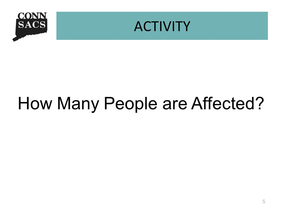 ACTIVITY How Many People are Affected 5
