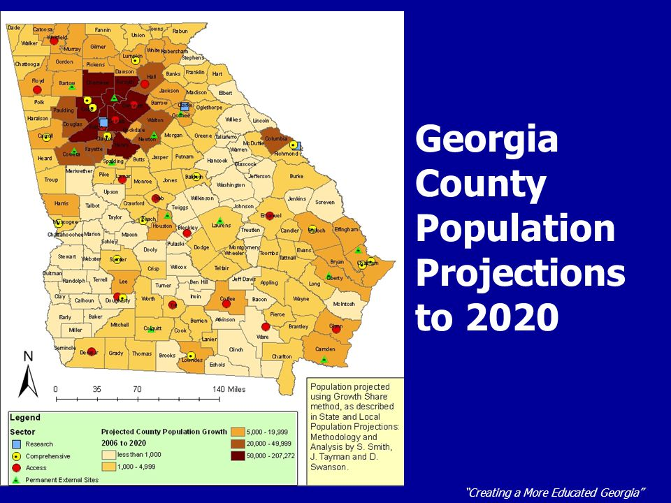 """""""Creating a More Educated Georgia"""" Georgia County Population Projections to 2020"""