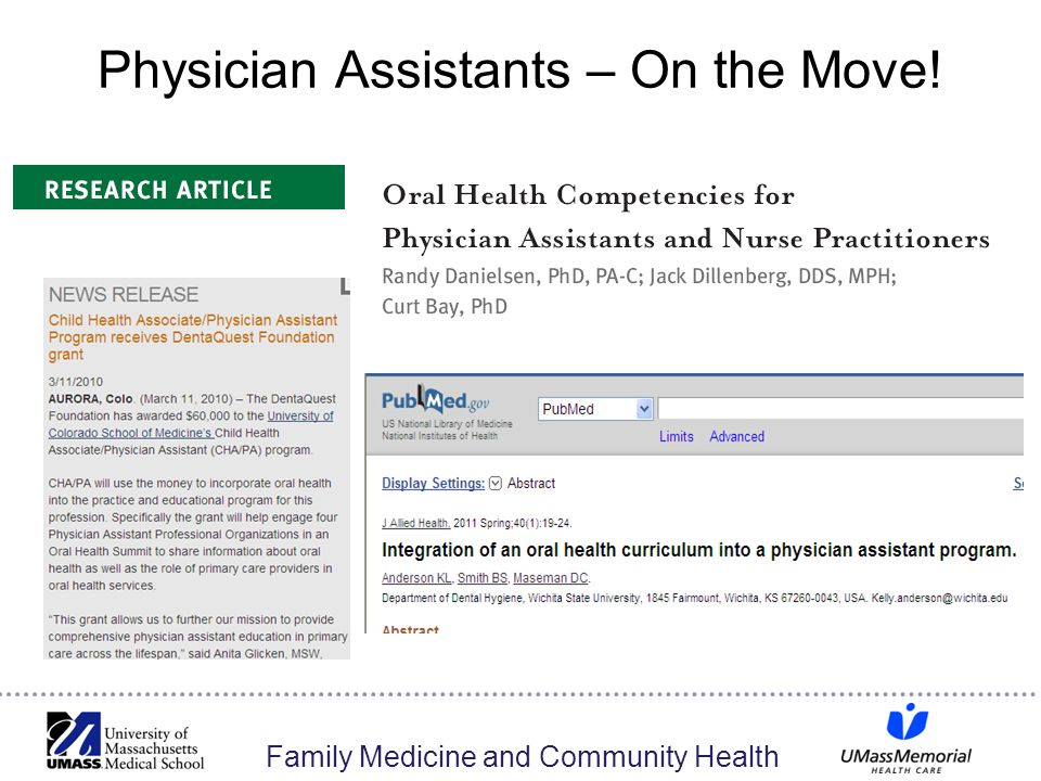 Physician Assistants – On the Move!