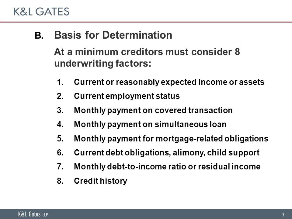38 Same-Creditor Refinancing of Non-Standard Loans  Non-Standard – ARMs with introductory fixed rate period, IOs, Neg Ams  Standard – Regular periodic amortizing payments, with no balloon, 3% points and fees, terms not exceeding 40 years, fixed rate for first 5 years, no cash out  Exempt from Ability to Repay if:  Same creditor (creditor for the new mortgage is the current holder or servicer acting on behalf of current holder)  New monthly payments materially lower  Creditor receives application no later than two months after the non- standard mortgage has recast  Consumer has no more than one 30-day late during preceding 12 months; no 30-day lates during the preceding 6 months  Creditor must consider whether standard mortgage likely to prevent a default on non-standard mortgage once the loan is recast