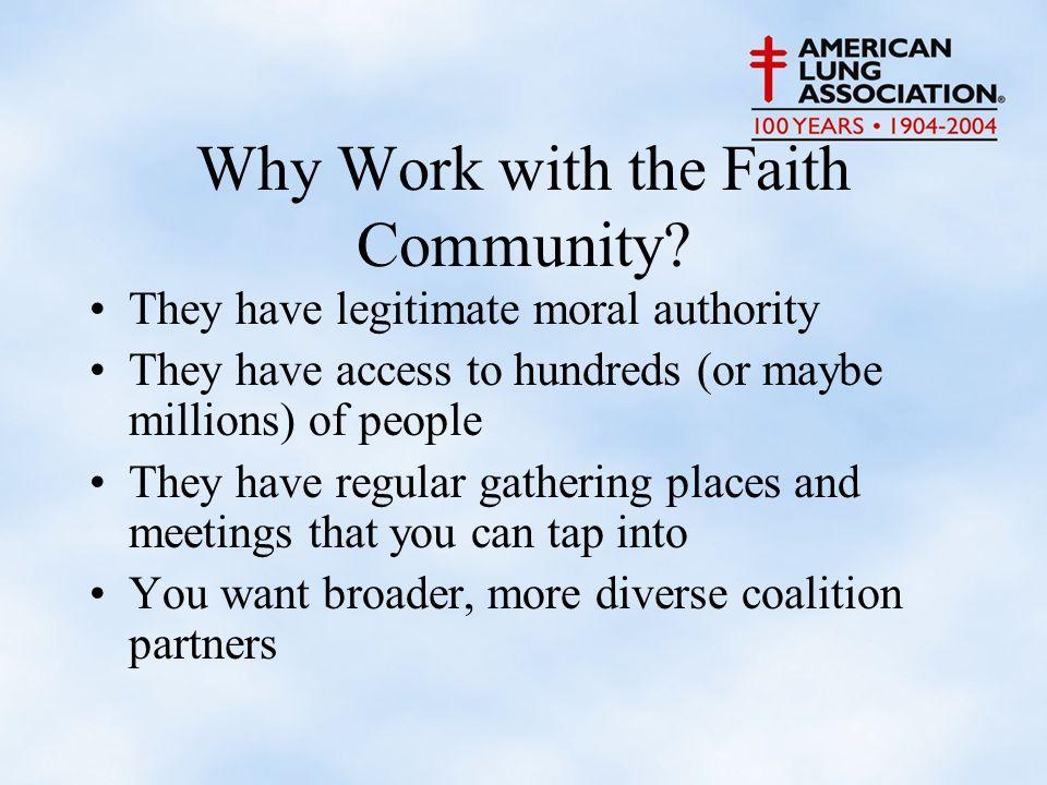 Why Work with the Faith Community.