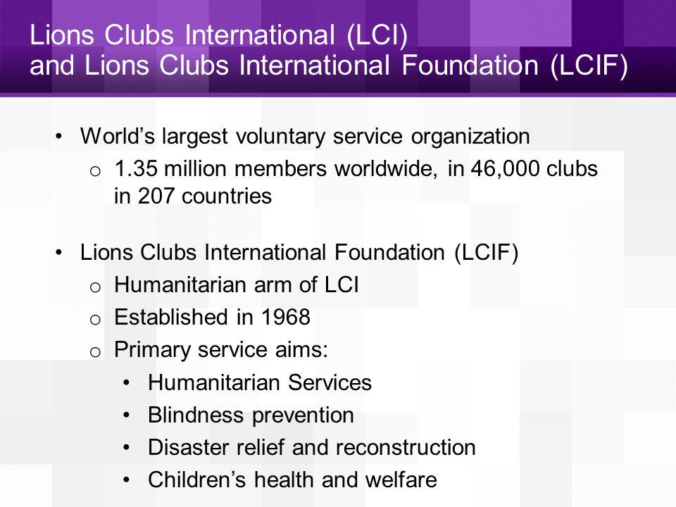 THANK YOU www.lcif.org