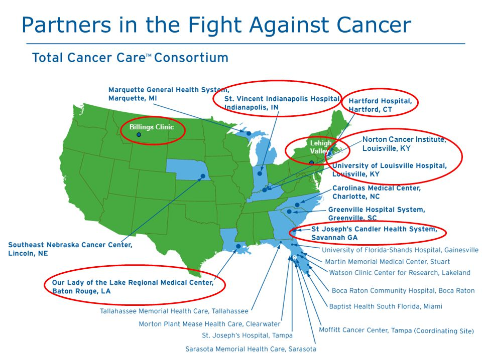 Norton Cancer Institute, Louisville, KY Partners in the Fight Against Cancer Billings Clinic Lehigh Valley
