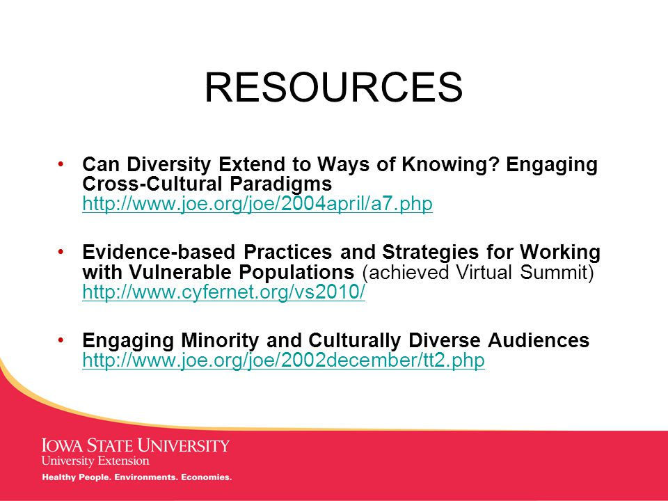 MANAGING Tough Times RESOURCES Can Diversity Extend to Ways of Knowing.
