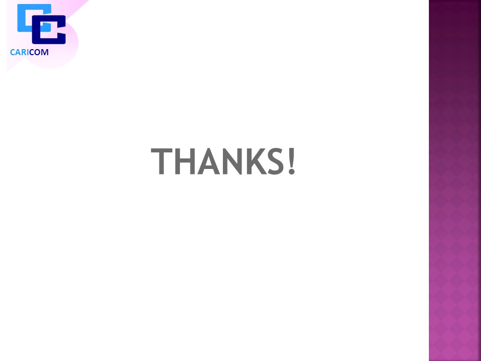 THANKS! CARICOM