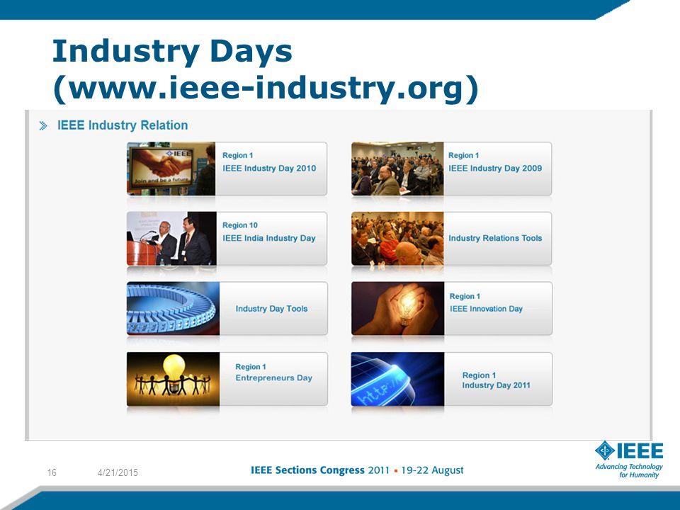 Industry Days (www.ieee-industry.org) 4/21/201516