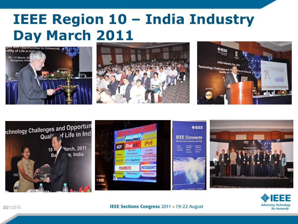 IEEE Region 10 – India Industry Day March 2011 4/21/201533