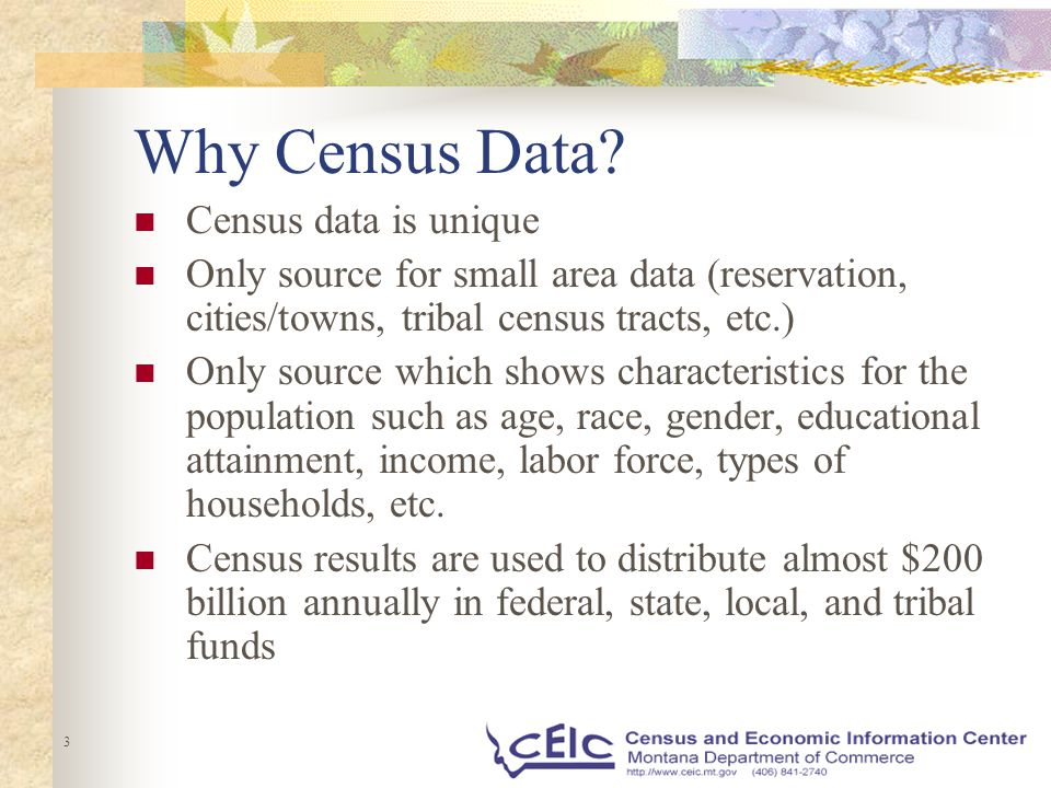 3 Why Census Data.