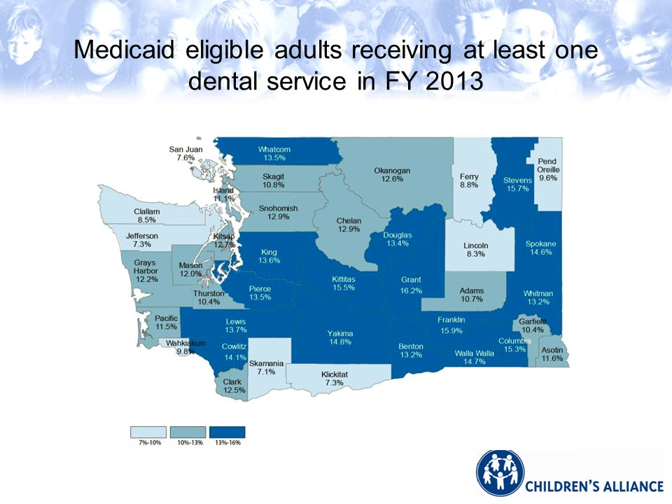 Medicaid eligible adults receiving at least one dental service in FY 2013
