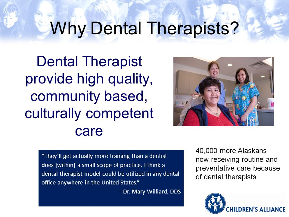 Why Dental Therapists.