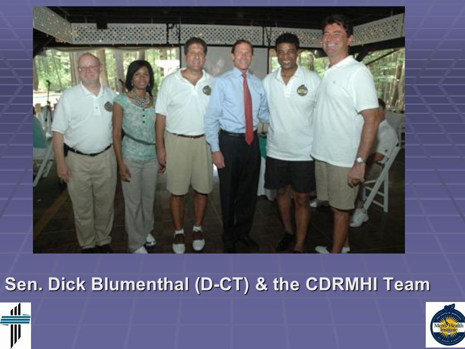 Sen. Dick Blumenthal (D-CT) & the CDRMHI Team