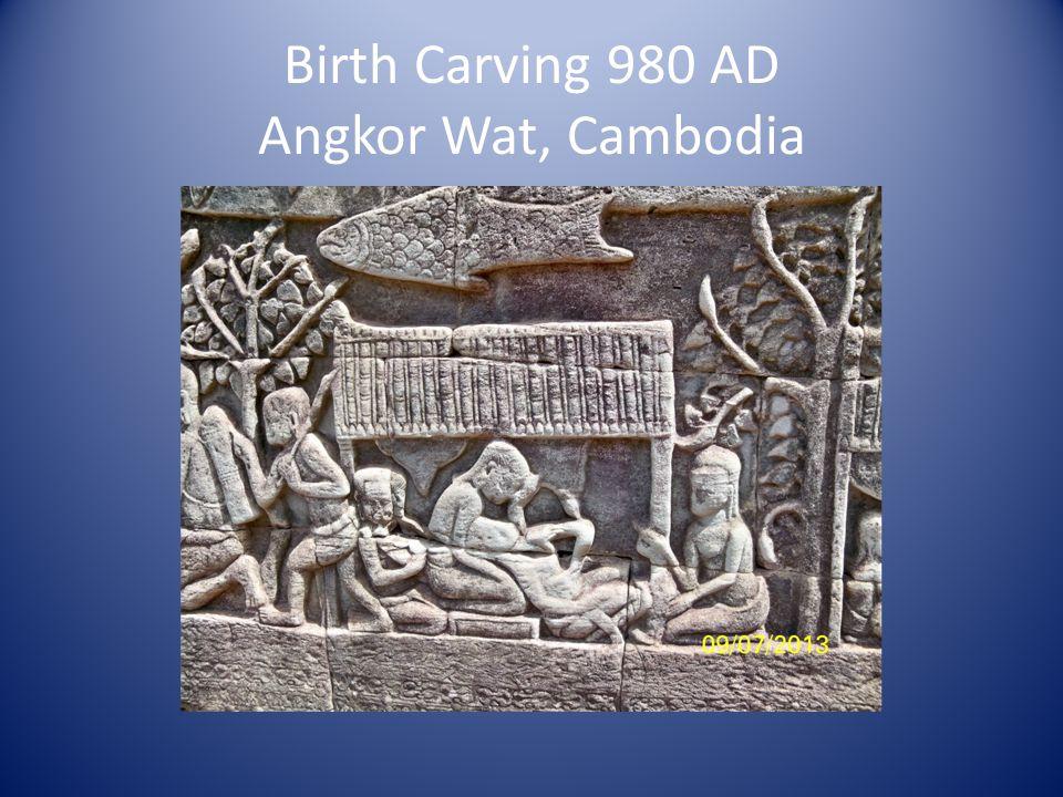 Birth Carving 980 AD Angkor Wat, Cambodia