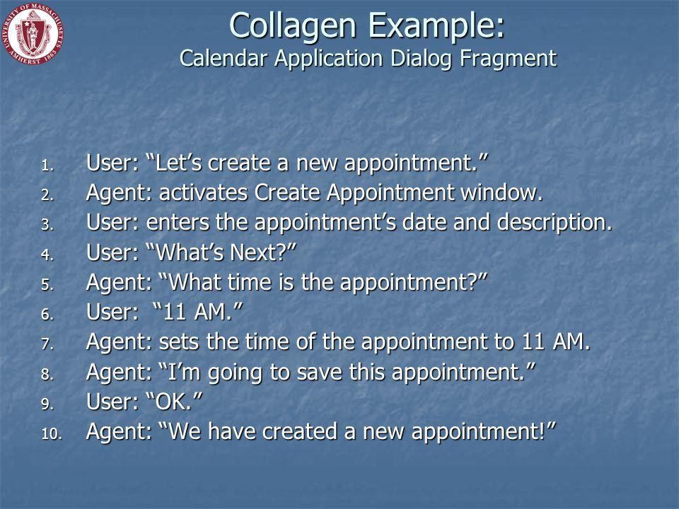 Collagen Example: Calendar Application Dialog Fragment 1.