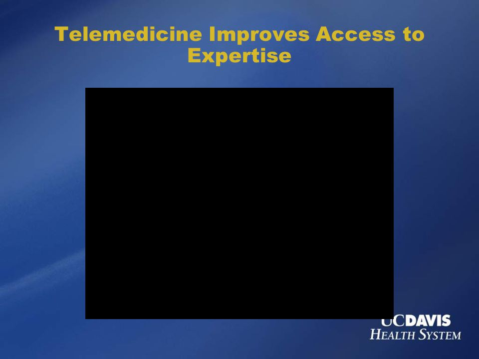 Telemedicine Improves Access to Expertise