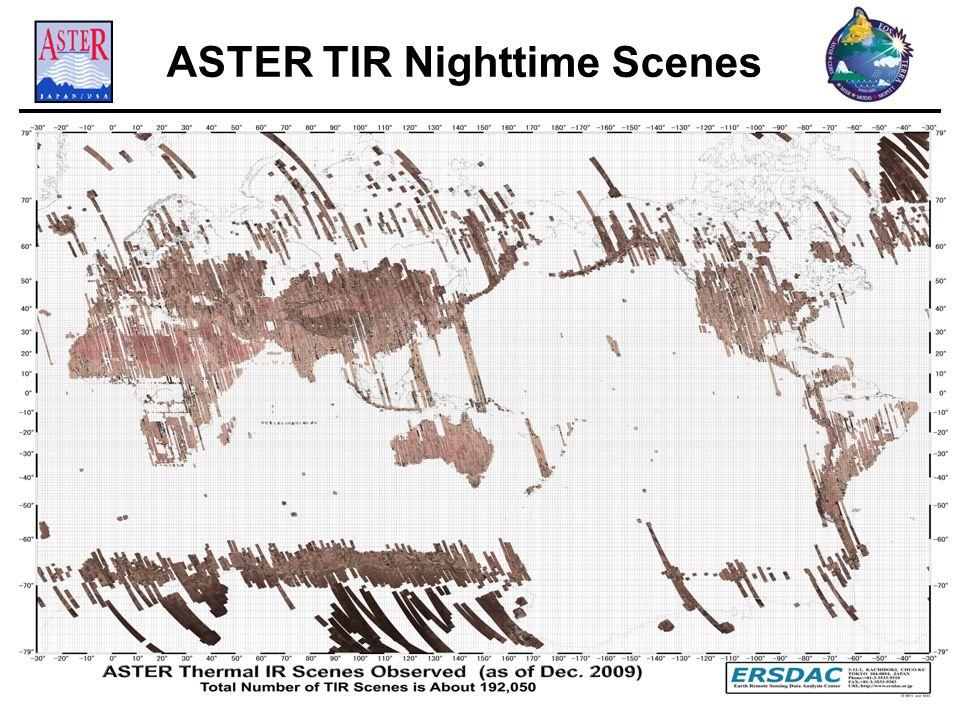 ASTER TIR Nighttime Scenes