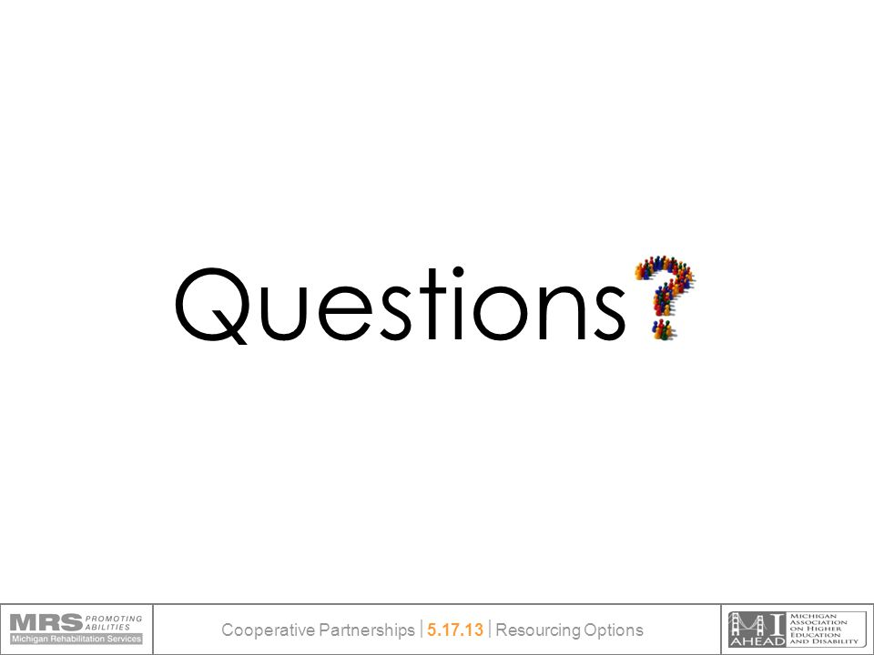 Questions Cooperative Partnerships  5.17.13  Resourcing Options
