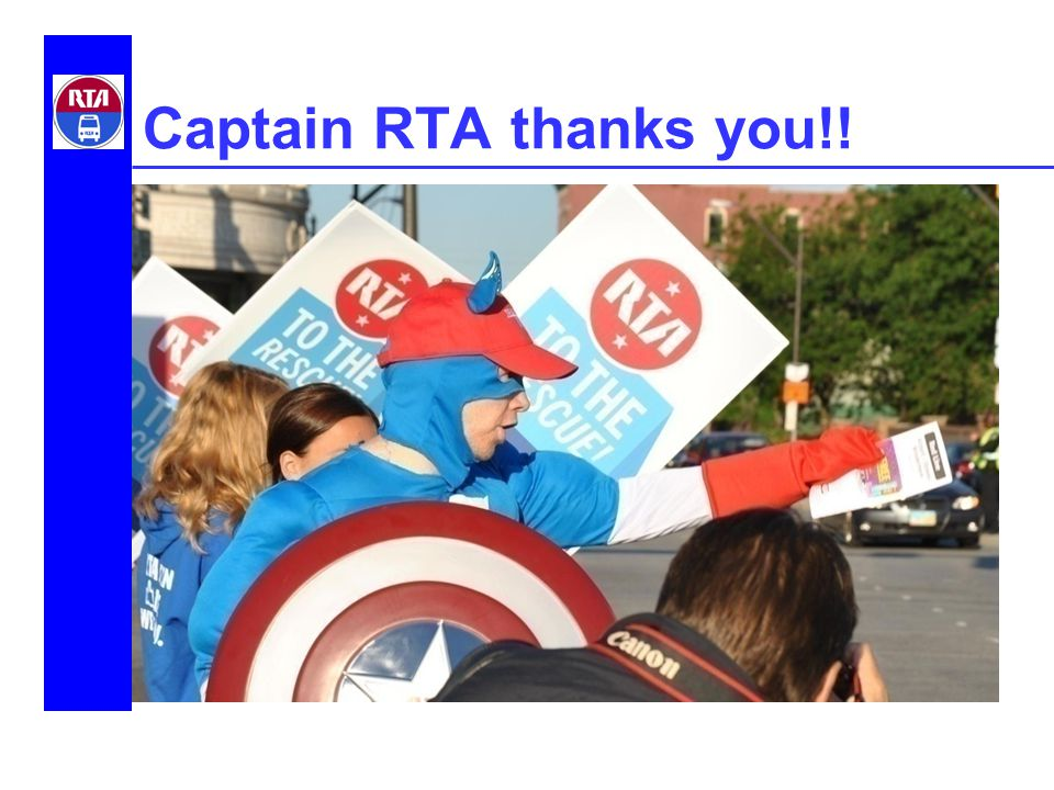 Captain RTA thanks you!!
