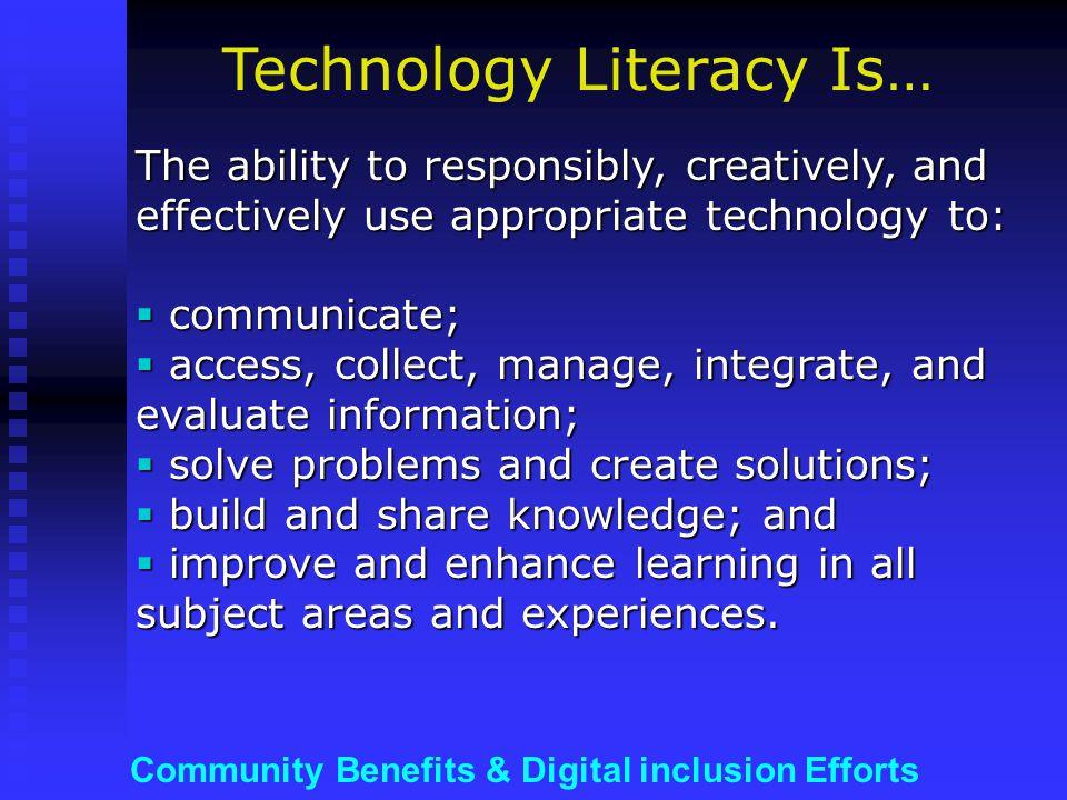 Community Benefits & Digital inclusion Efforts Is Internet Access Critical .