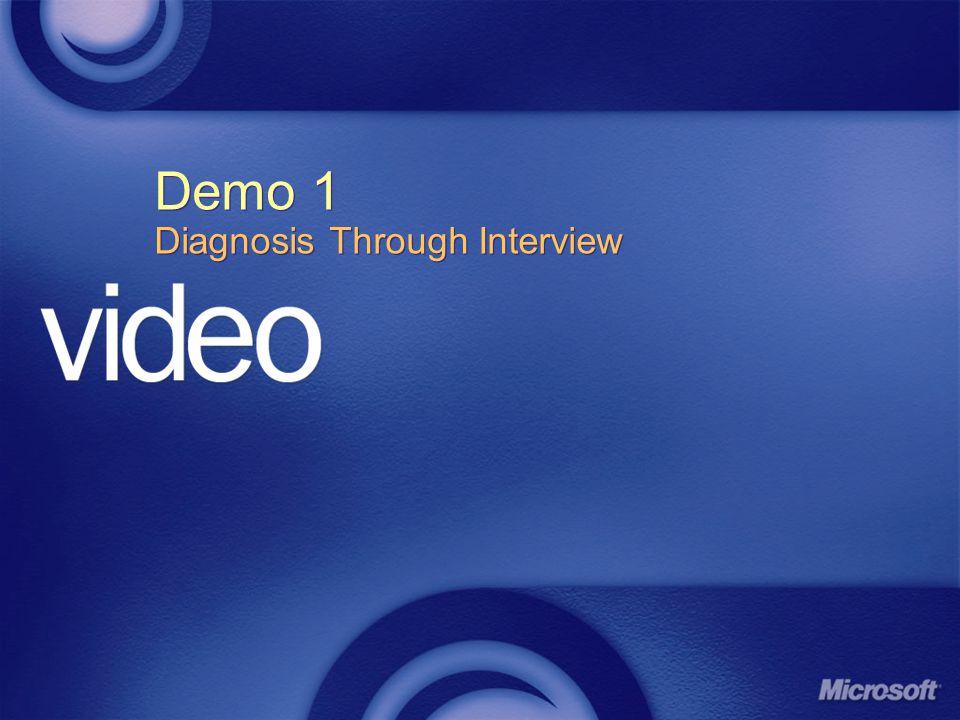 Demo 1 Diagnosis Through Interview