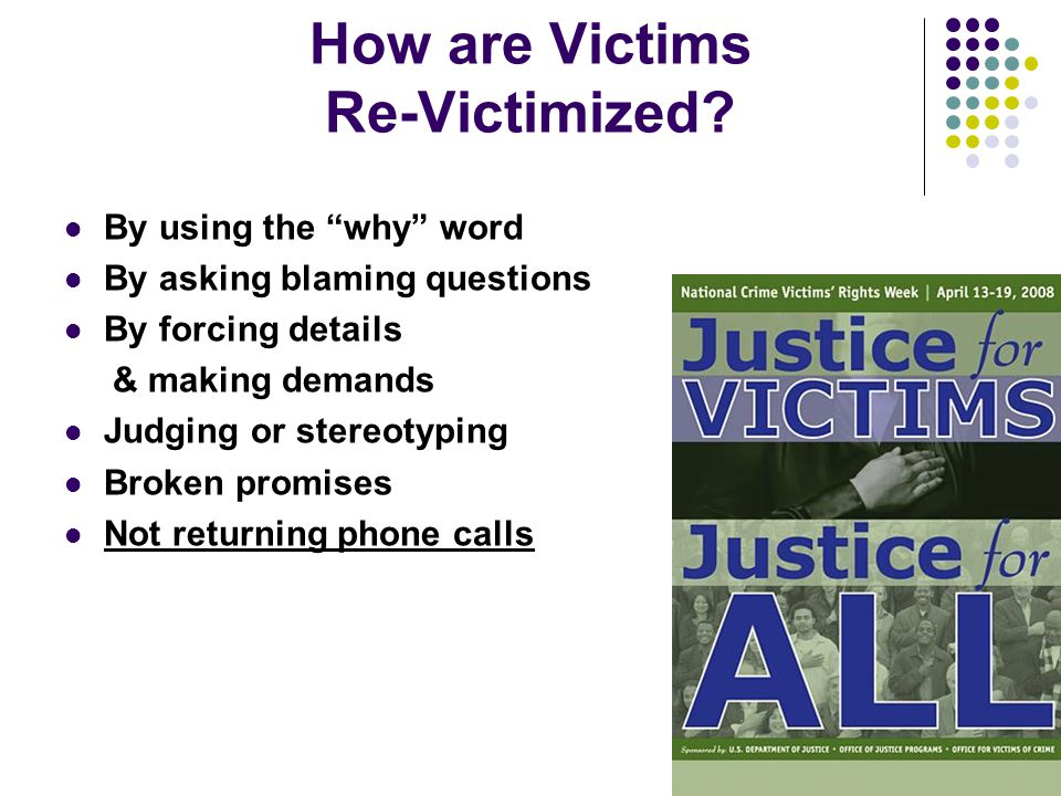How are Victims Re-Victimized.