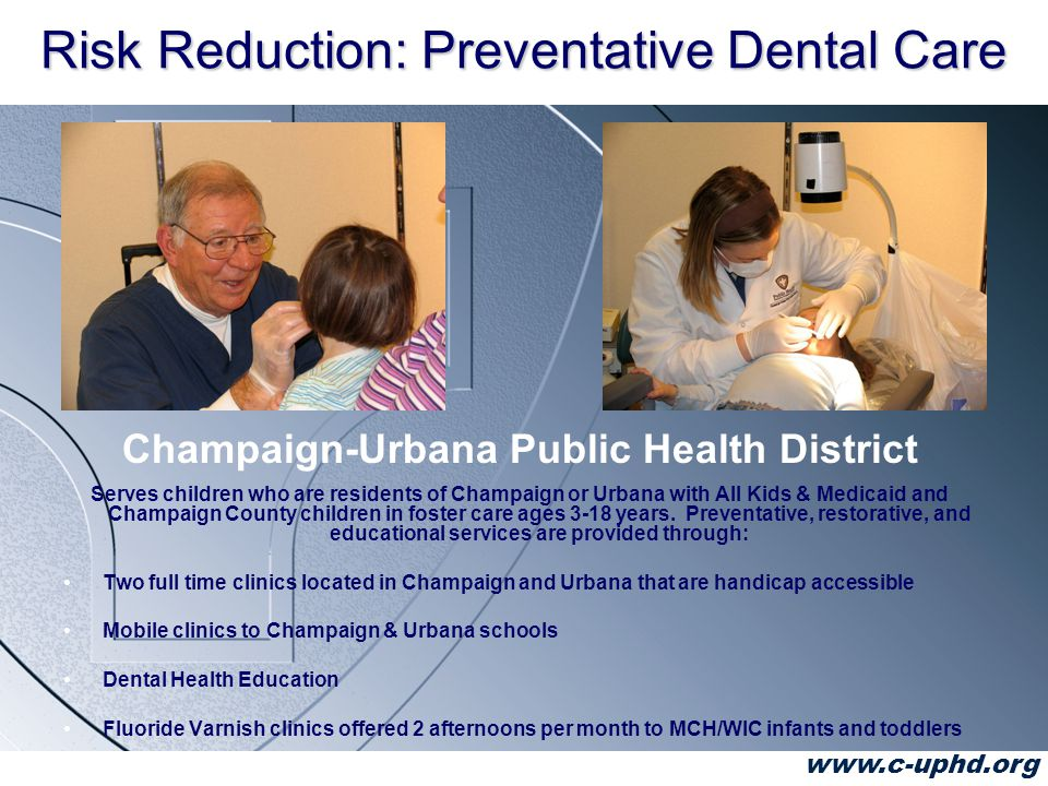 www.c-uphd.org Measuring Outcomes CUPHD will track Bright Smiles from Birth screening responses for all children age 1-3 years and report the incident of caries in children age 2-4 years at their first dental appointment.