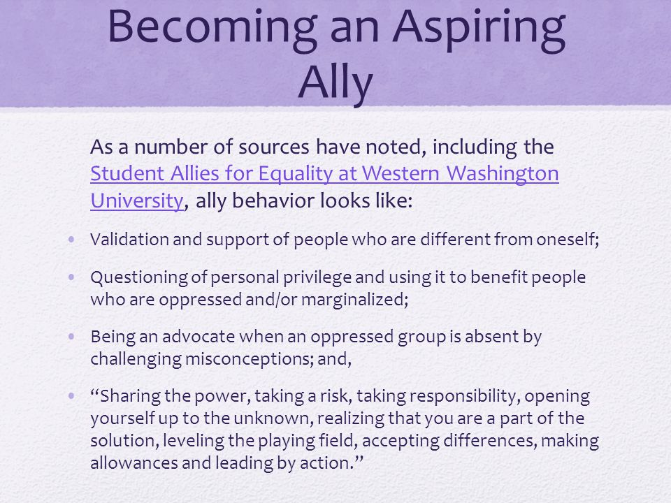 Becoming an Aspiring Ally Reflection & Pooling Strategies Can you identify one moment where you believe you could have been a stronger ally.