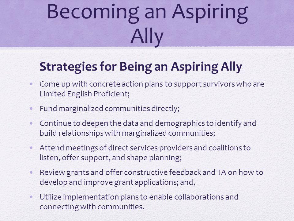 Becoming an Aspiring Ally Impact Rev.Dr.
