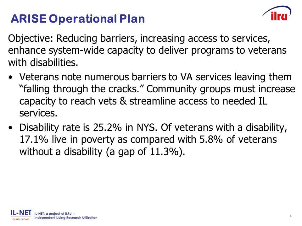 Slide 5 ARISE Operational Plan, cont'd.