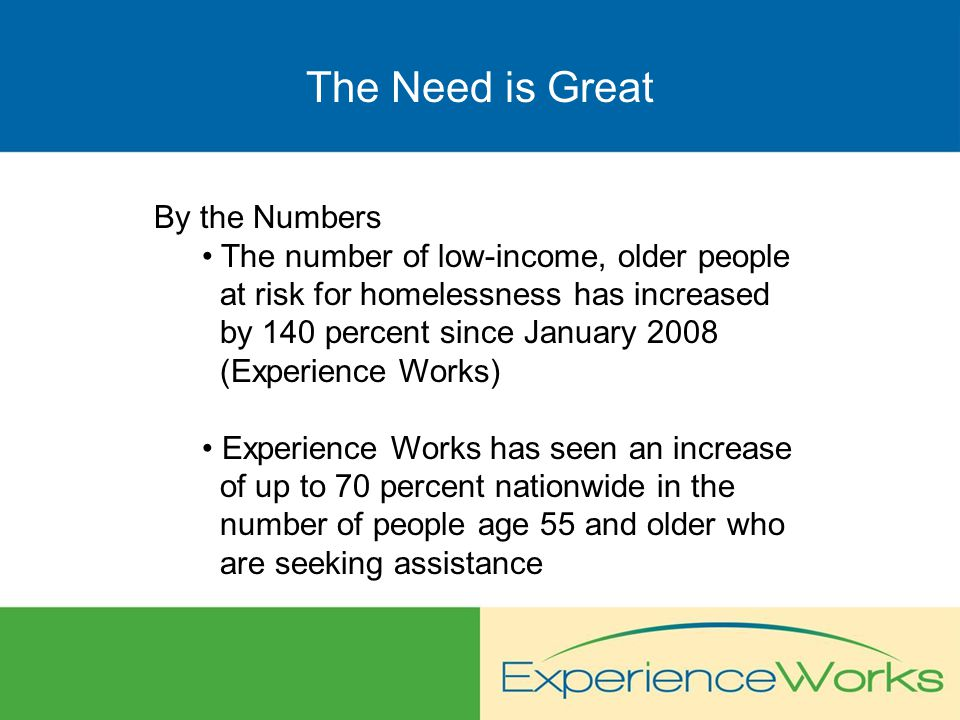 About Experience Works Contact Experience Works 1-800-450-5627 Michael Pattee Deb Trygstad www.experienceworks.org