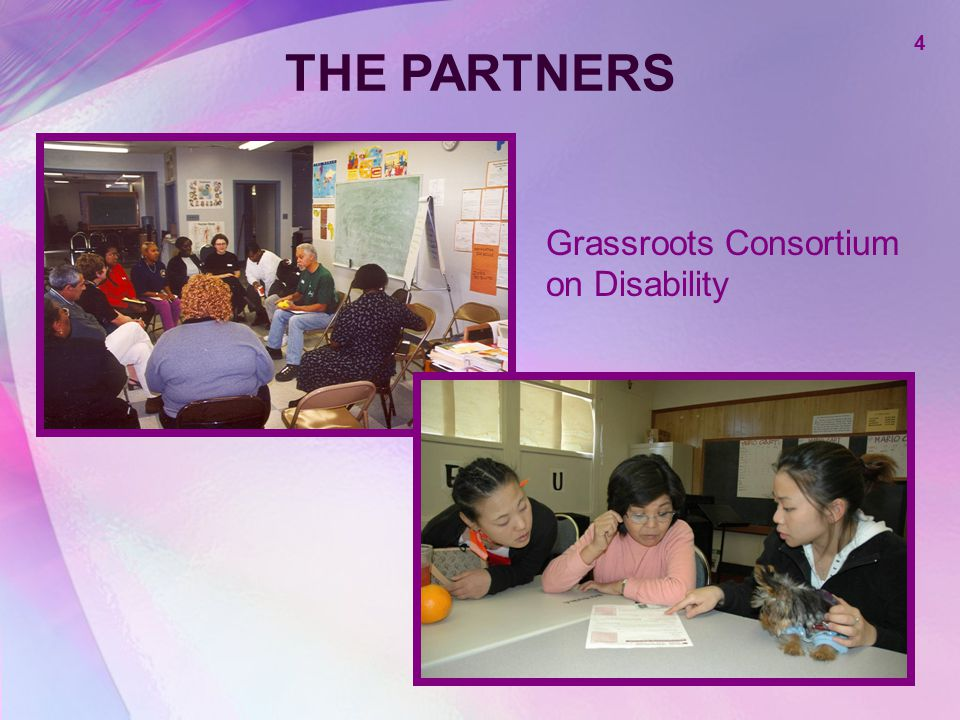 THE PARTNERS 4 Grassroots Consortium on Disability