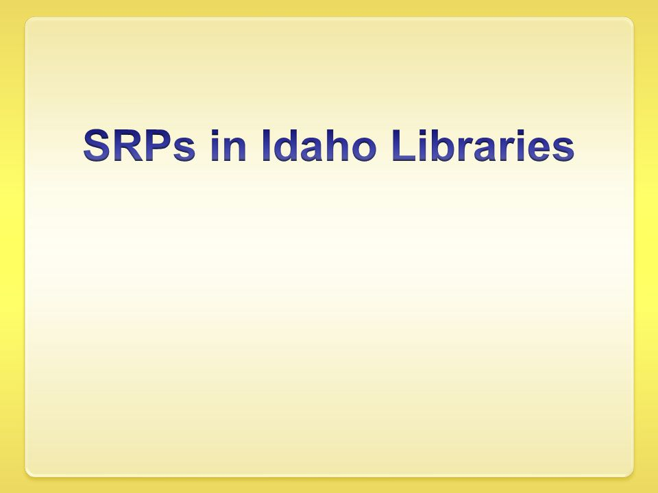 2009 Approximately 419,000 children ages 0- 18 living in Idaho Approximately 63,300 children ages 0-18 participated in summer library programs, which was a 38% increase over the previous year.