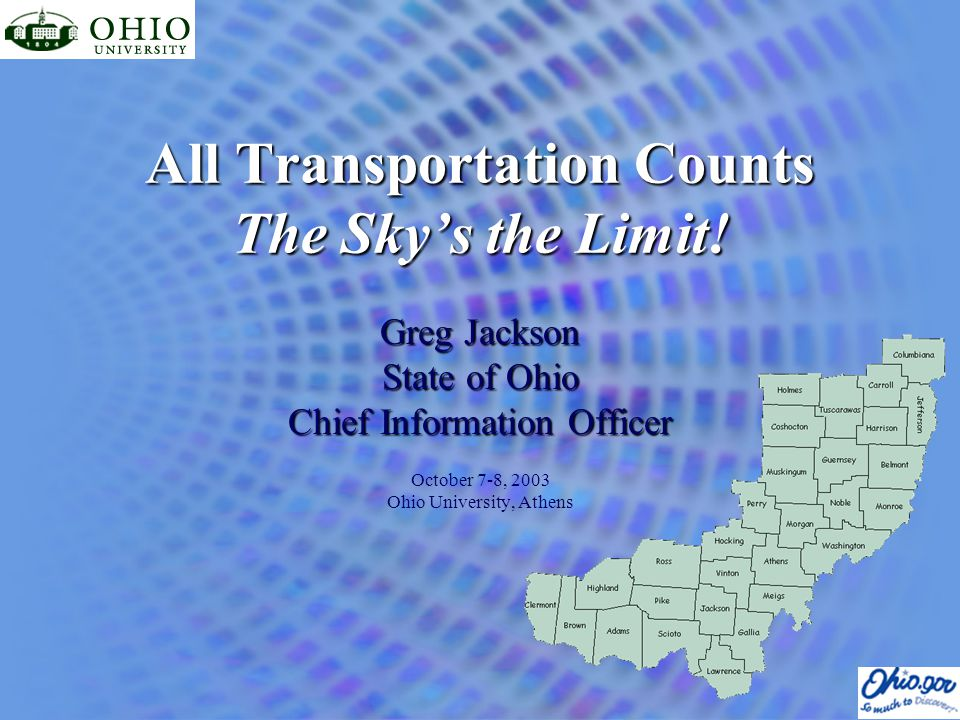 All Transportation Counts The Sky's the Limit.