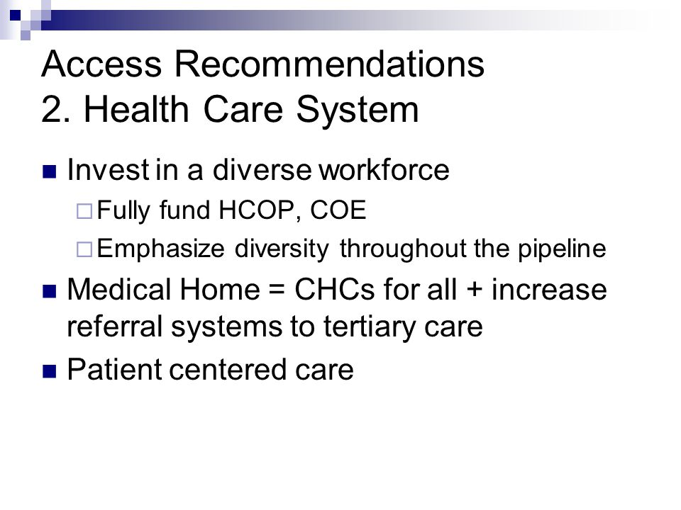 Access Recommendations 2.