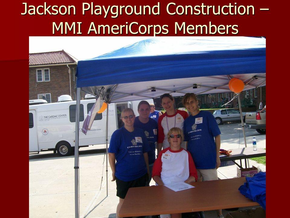 Jackson Playground Construction – MMI AmeriCorps Members