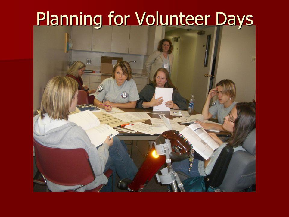 Planning for Volunteer Days