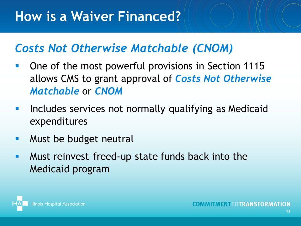 How is a Waiver Financed.
