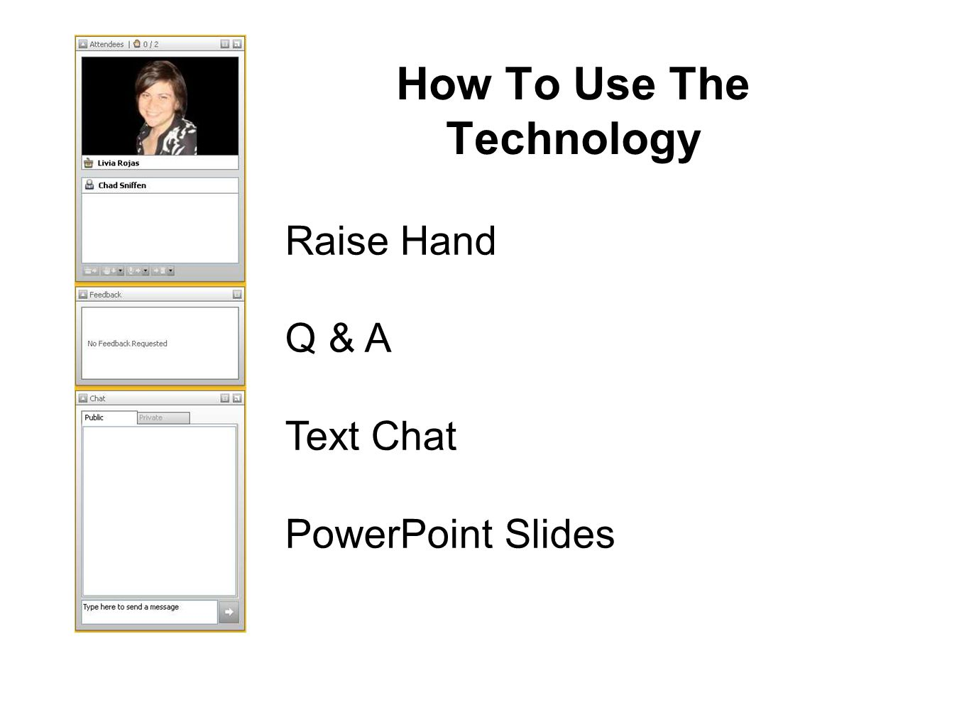How To Use The Technology Raise Hand Q & A Text Chat PowerPoint Slides