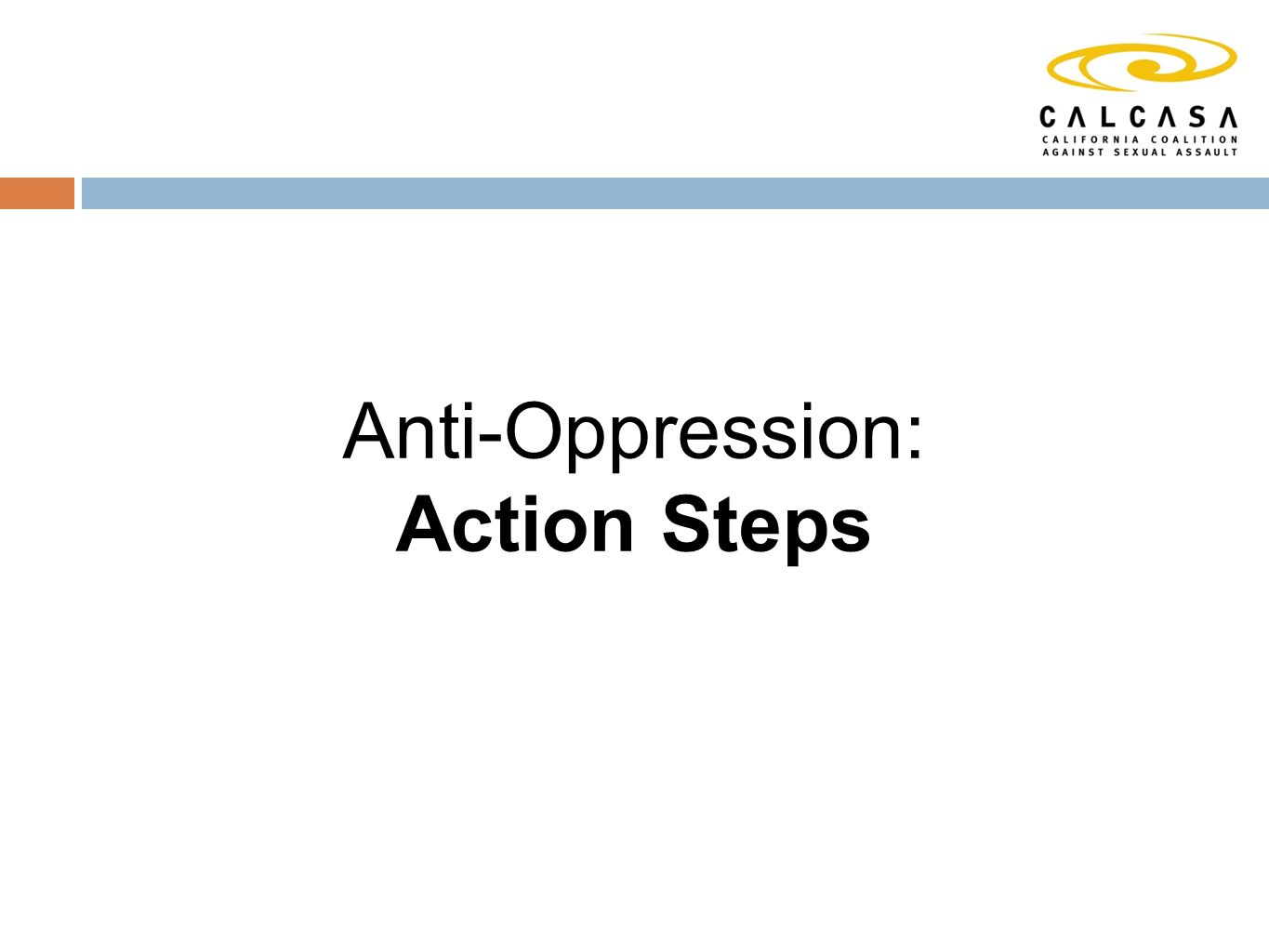 Anti-Oppression: Action Steps