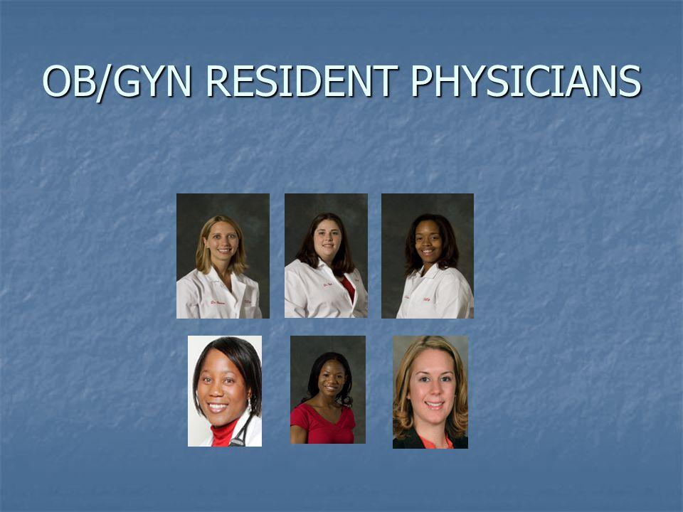OB/GYN RESIDENT PHYSICIANS