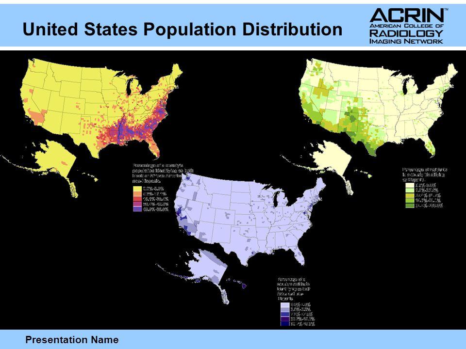 Presentation Name United States Population Distribution