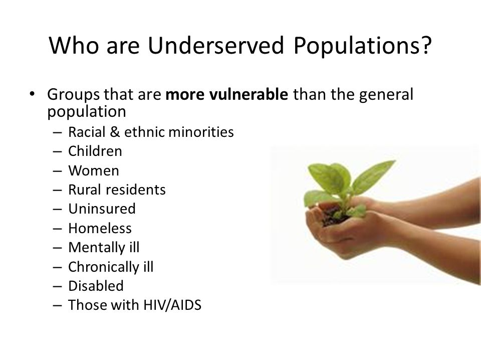 Who are Underserved Populations.