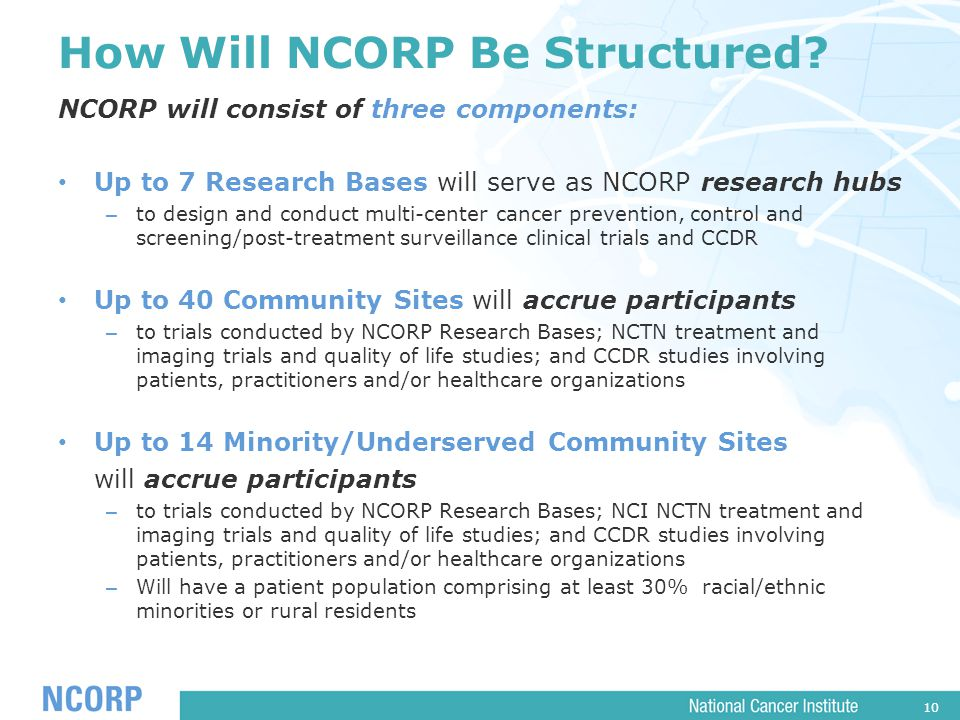 10 How Will NCORP Be Structured.